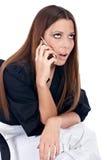 Femme d'affaires inquiétée Photographie stock libre de droits