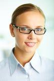 Femme d'affaires intelligente Image libre de droits