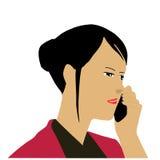 Femme d'affaires invitant le téléphone Photographie stock libre de droits