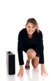 femme d'affaires joyeuse Photographie stock libre de droits