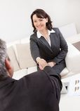 Femme d'affaires mûre à l'entrevue Image libre de droits