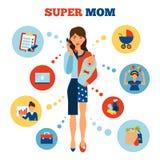 Femme d'affaires Mother Concept Photographie stock libre de droits