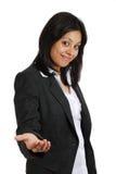 Femme d'affaires offrant sa main pour l'amitié Image stock