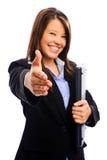 Femme d'affaires offrant une prise de contact photos libres de droits