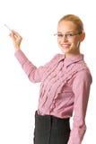 Femme d'affaires ou professeur photographie stock