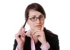 Femme d'affaires pensante photos stock