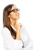Femme d'affaires pensante image libre de droits