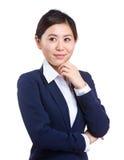 Femme d'affaires pensante photo libre de droits
