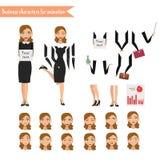Femme d'affaires pour l'animation Image stock