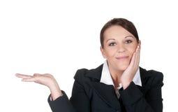 Femme d'affaires présente Photos stock