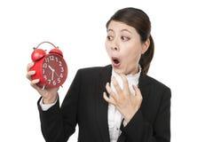 Femme d'affaires pressé Image stock