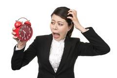 Femme d'affaires pressé Image libre de droits