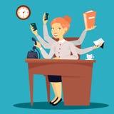 Femme d'affaires réussie Dame multitâche d'affaires Images stock
