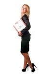 Femme d'affaires recherchant un travail neuf Images stock