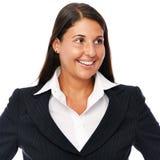 Femme d'affaires regardant en longueur Image stock