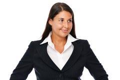 Femme d'affaires regardant en longueur Photos libres de droits