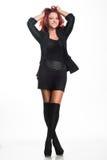 Femme d'affaires rousse dans la pose de plan rapproché Photographie stock libre de droits