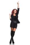 Femme d'affaires rousse dans la pose de plan rapproché Images stock