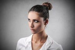 Femme d'affaires sérieuse Photographie stock