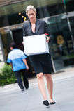 Femme d'affaires sans emploi photographie stock
