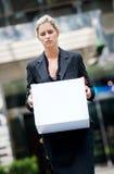 Femme d'affaires sans emploi image libre de droits