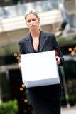 Femme d'affaires sans emploi photos stock