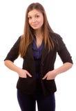 Femme d'affaires satisfaisante Images libres de droits