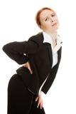 Femme d'affaires souffrant de la douleur Photographie stock libre de droits