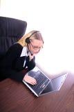 Femme d'affaires - Spoksewoman de corporation photos stock