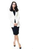Femme d'affaires sur le fond blanc Photos libres de droits