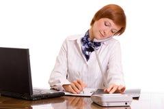 Femme d'affaires sur le travail. Photo stock