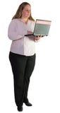 Femme d'affaires travaillant avec l'ordinateur portable Image libre de droits