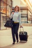 Femme d'affaires Traveling Images libres de droits