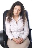 Femme d'affaires triste Photos stock