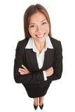 Femme d'affaires - verticale asiatique de femme d'affaires Images libres de droits