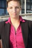 Femme d'affaires vous regardant Image libre de droits