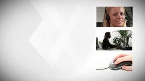 Femme d'affaires Working Indoors banque de vidéos
