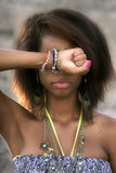 Femme d'Afro-américain Photo stock