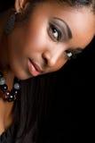 Femme d'Afro-américain photographie stock libre de droits