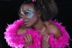 Femme d'Afro-américain Photo libre de droits