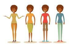 Femme d'afro-américain dans des vêtements sport Photos libres de droits