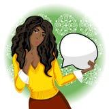 Femme d'afro-américain de vecteur Photo stock