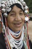 Femme d'Akha en Thaïlande nordique Image stock