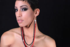 Femme d'Américain d'Afircan Photo libre de droits
