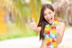 Femme d'amusement d'été de vacances photographie stock