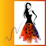 Femme d'aquarelle Photo stock