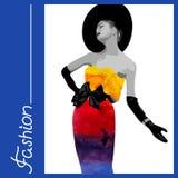 Femme d'aquarelle Image stock