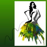 Femme d'aquarelle Images stock