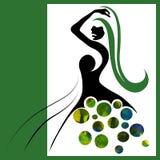 Femme d'aquarelle Images libres de droits
