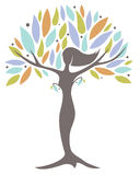 Femme d'arbre de mère nature Photographie stock libre de droits